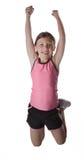 Healthy Jumping Girl Royalty Free Stock Image