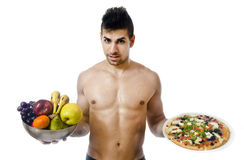 Healthy...junk... Is your decision Stock Photography