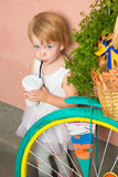 Healthy kid, milk Stock Images