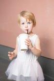 Healthy kid, milk Royalty Free Stock Image