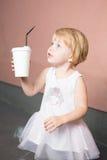 Healthy kid, milk Royalty Free Stock Photos