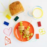 Healthy kids lunch Stock Photo
