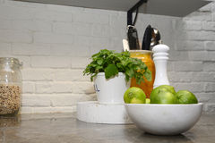 Healthy Kitchen - Granit Counter Royalty Free Stock Photo
