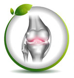 Healthy knee symbol Royalty Free Stock Photos