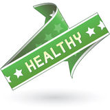Healthy label sticker Stock Images