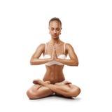 Healthy latino woman doing yoga Royalty Free Stock Photography