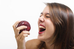 Healthy Laughter. Healthy eating makes for a happy mind and healthy body Royalty Free Stock Photo