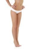 Healthy legs in white bikini panties Stock Image