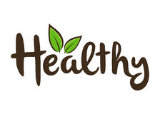 Healthy Lettering Typography Art Stock Image