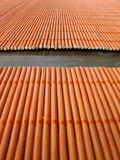 Healthy Life: Bamboo Placemats. Healthy Life: Orange Bamboo Sticks Placemats Stock Photos