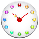 Healthy Life Clock Stock Image