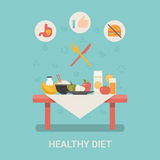 Healthy life concept vector illustration set peopl Royalty Free Stock Image