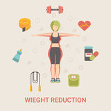 Healthy life concept vector illustration set peopl Royalty Free Stock Photo
