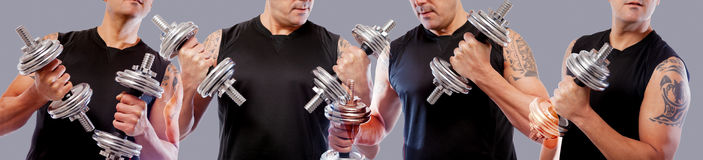 Healthy life and gym exercise.Workout and training stock photography