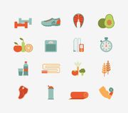 Healthy life icons Royalty Free Stock Images
