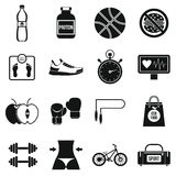 Healthy life icons set, simple style Stock Photo