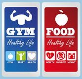 Healthy life labels Royalty Free Stock Photo