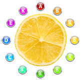 Healthy Life Lemon Vitamins Stock Image
