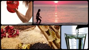 Healthy life montage stock video