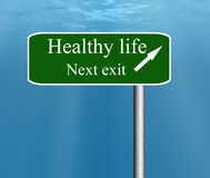 Healthy life next exit. Stock Photography
