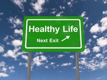 Healthy life next exit sign Stock Image