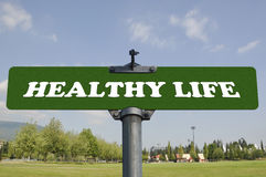 Healthy life road sign Royalty Free Stock Photos