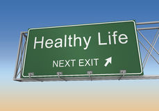 Healthy life road sign Royalty Free Stock Photography