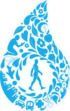 Healthy Life Silhouette. A vector set of silhouettes about many aspect of healthy life. Drawn in cartoon style, this vector is very good for design that need Stock Photos