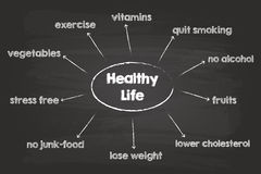 Healthy Life Sketch Royalty Free Stock Photos