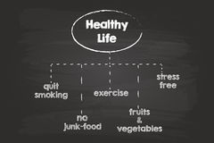 Healthy Life Sketch Royalty Free Stock Images