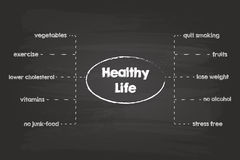 Healthy Life Sketch Royalty Free Stock Photography