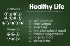Healthy Life Steps Royalty Free Stock Images