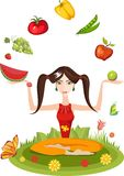 healthy life-style royalty free illustration