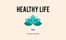 Healthy Life Vitality Physical Nutrition Personal Development Co. Ncept Royalty Free Stock Images