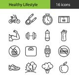 Healthy lifestyle. Set of icons royalty free illustration