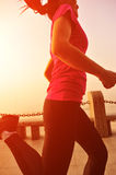 Healthy lifestyle  asian woman running Stock Photography