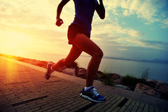 Healthy lifestyle asian woman running Stock Photo