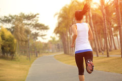 Healthy lifestyle asian woman running Royalty Free Stock Image
