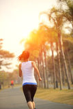 Healthy lifestyle asian woman running Stock Image
