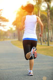 Healthy lifestyle asian woman running Royalty Free Stock Photography