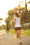 Healthy lifestyle asian woman running Stock Images