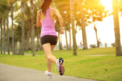 Healthy lifestyle asian woman running Royalty Free Stock Photos