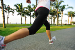 Healthy lifestyle asian woman running Stock Photos