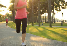 Healthy lifestyle asian woman running Royalty Free Stock Photo