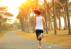 Healthy lifestyle asian woman running Royalty Free Stock Images