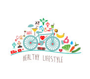 Healthy Lifestyle Background Stock Images