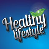 Healthy Lifestyle background  design Stock Photography
