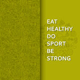 Healthy lifestyle background in green stock illustration