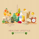 Healthy lifestyle background Stock Photos