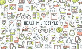 Healthy lifestyle banner Stock Images